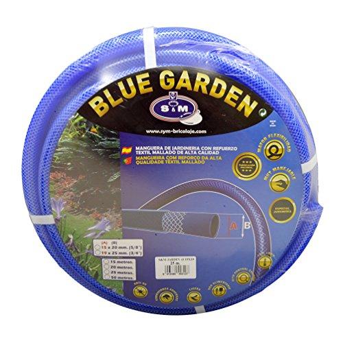 S&M 553127 Manguera De Jardinería Reforzada, Azul, 19 X 25 Mm