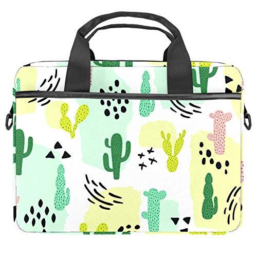 TIZORAX Laptoptasche Kaktus und Symbol Notebook Sleeve mit Griff 38,1 - 39,1 cm Tragetasche Schultertasche Aktentasche