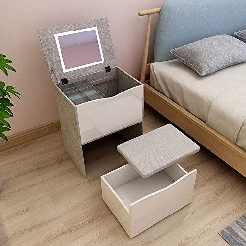 HYCy Mesita de Noche Mesita de Noche Almacenamiento Simple y Moderno Gabinete pequeño Cajón de Estilo nórdico japonés con Cerradura Mesita de Noche para Dormitorio Almacenamiento Simple