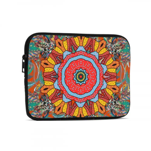 Funda para iPad Pro Mandala Cuadrada Abstracta Decorativa Mini Accesorios para iPad compatibles con iPad 7,9/9,7 Pulgadas Bolsa Protectora de Neopreno a Prueba de Golpes con Cremallera y