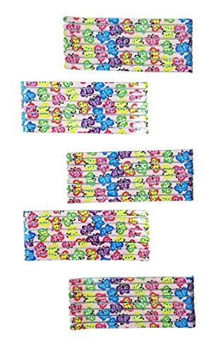 Evogirl Bobby Pins Nieuwe Tijd Leuke & Kleurrijke Ontwerpen Mix & Match Party Wear Haar Slider Pins Tic Tac Clips 5.7cm Vlinder Print, Klein, Voor Vrouwen/Meisjes