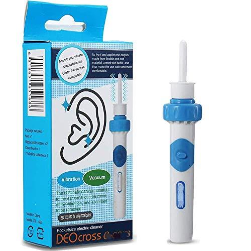 Ohrenreiniger, Ohrwachsentferner,Ear Wax Cleaner, Portable Ohrenreiniger Elektrisch,Ohrwachs Entfernungs Tool Geeignet Für Kinder und Erwachsene