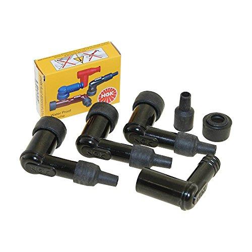 4X Zündkerzenstecker Set NGK LB05F für Motorräder, Roller, Moped und Mofa