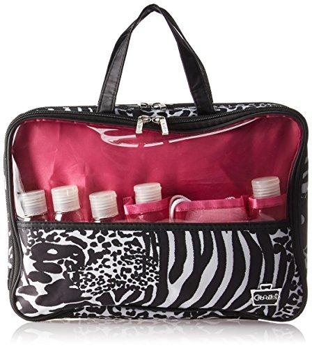 Caboodles Weekender Travel Tote Zebra Cheetah, 0,3kilogram, colore: Nero/Bianco