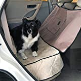 Made from double-ply 600 denier nylon with water-resistant coating Keeps pet from jumping into the front seat Protects your back seat from dirt and wetness Convenient storage pocket for leashes and toys keeps your vehicle organized Matching travel/SU...
