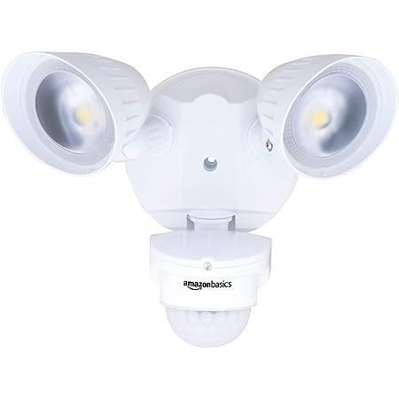 Amazon Basics 40W Waterproof LED Outdoor Motion Sensor Security Light with 2 Adjustable Metal Heads - 5000K Daylight, 4000 Lumen, ETL Certified