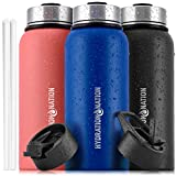 Hydration Nation 18oz, 32oz, or 40oz Vacuum Insulated Water Bottle - Metal Water Bottle For Sports &...