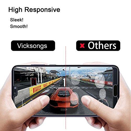 VICKSONGS (3Stück Schutzfolie für Huawei P20 Pro,[Ultra Clear] Displayschutzfolie (Nicht Glas) PET Soft Displayschutz [Anti-Bläschen][Anti-Fingerabdruck] Screen Protector für Huawei P20 Pro - 6