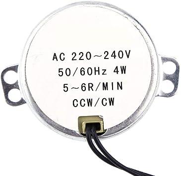 sourcing map /Électrique Synchrone Moteur Unique Plat Axis AC 220-240V CCW//CW 4-5RPM