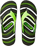 Flite Men's Black Green Flip Flops Thong Slipper -8 UK/India (42 EU) (FL0277G)