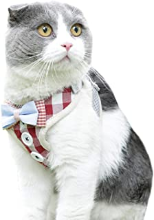Dorlotou Cat Harness Vest Rope Traction for Small Puppies and Cats