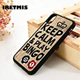 BLG For iPhone 5 5 5S SE 6 6S Silicone Phone Case Cover for iPhone 7 8 Plus X XS 11 Pro MAX XR Keep Calm & Play Bingo Ball Phrase Quote