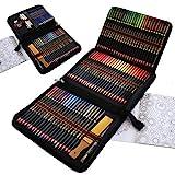 Lapices Acuarelables Profesionales para Adultos y Niños, 96 Piezas Lapices Colores Conjunto Lapices de Dibujo Artístico, Incluye lapiz dibujo, Carbón, Lápices Pastel, Herramientas de dibujo