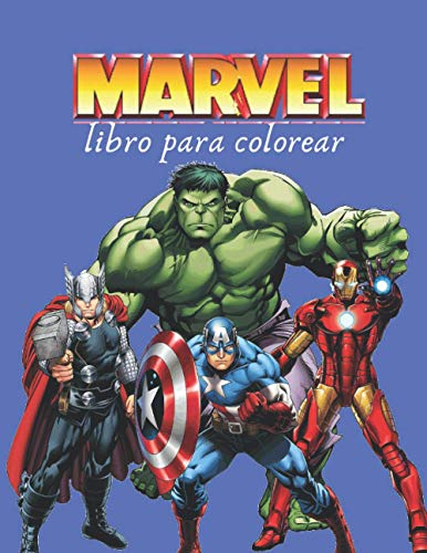 MARVEL Libro Para Colorear: +50 SIMPLE Y ALTA CALIDAD DIBUJO DE MARVEL
