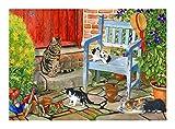 Jigsaw Puzzle Puzzle animal doméstico del gato de la serie en el jardín, 300/500/1000/1500 las piezas del rompecabezas for adultos, regalo creativo Decoración Arte de la pared, Puzzle Collection Lover