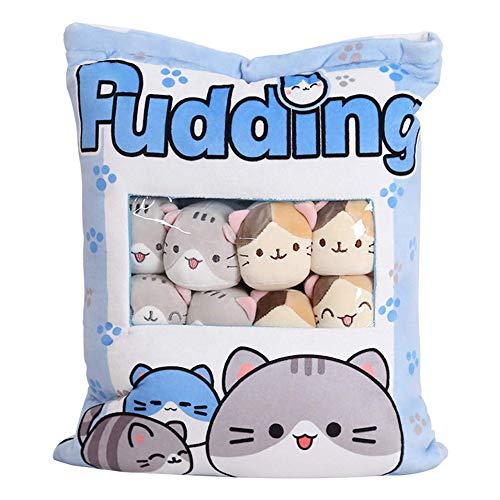 Niedliche Snack-Kissen Kuscheltier Spielzeug Pudding Dekorative abnehmbare Kitty Cat Dolls Kreative Spielzeuggeschenke für Teenager Mädchen Kinder