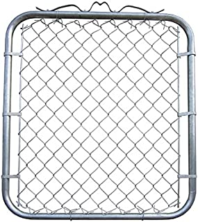 MTB Galvanized Chain Link Garden Walking Fence Gate 48-inch Overall Height by 32-inch Frame Width (Fit a 36-inch Opening), 1 Pack Chain Link Fence Walk-Through Gate