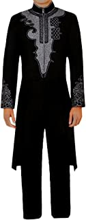 CG Costume Men's Black Tuxedo T'Challa 3D Print for Black Panther Cosplay Costume