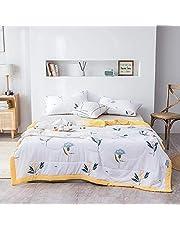 Katoenen sprei 200x230 cm gewatteerde roze en witte patchwork-quilts Sofa-spreien Zachte, gezellige dubbele dekens-spreien