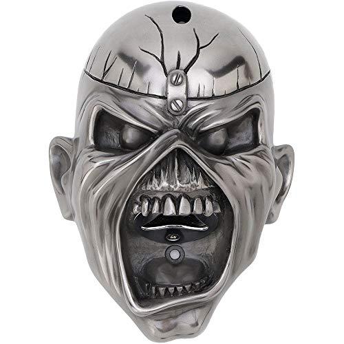 Iron Maiden Wall mounted Flaschenöffner Eddie Trooper Face Nue offiziell Silber