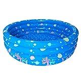 Lommer Kinder Schwimmbad, 130 * 42CM Kinder Pool Rund Einfach Planschbecken Baby Pool Schwimmbecken Wasserspielplatz für Kinder (Blau)
