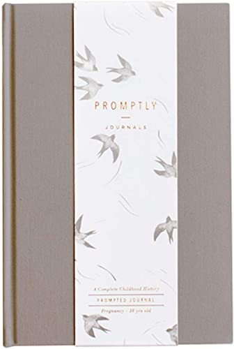 Promptly Journals - Childhood History Journal - Baby Books First Year and Pregnancy Journal - Baby Memory Book from P...