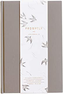 Promptly Journals - Childhood History Journal (Grey) - Keepsake Baby Book, Records Every Stage of Child's Life, Pregnancy Thru Age 18 Years, Elegant Unisex Design for Boy or Girl