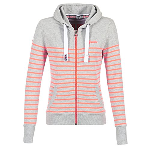 Superdry Sun & Sea Ziphood Sweatshirts Und Fleecejacken Damen Grau/Korallenrot - XXS - Sweatshirts Sweater