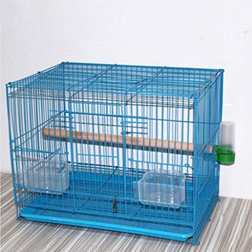 Liuyu · Maison de la Vie Cages d'élevage de Poulet Perroquet en Cage de Birdcage Metal Pigeon (Color : Blue, Size : Large 47 * 30 * 33cm)