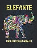 Elefante Libro Colorear Animales: Libro de...