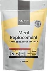 Amazon-Marke: Amfit Nutrition Mahlzeitersatz Erdbeergeschmack, 2.4kg (ehemals PBN)