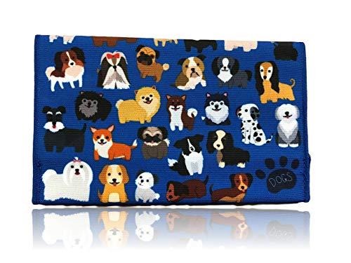 Tabaktasche aus Stoff   mit Filterfach   bunter Tabakbeutel mit Klettverschluss   witzige Drehertasche als Geschenk   Damen & Herren (Dogs)
