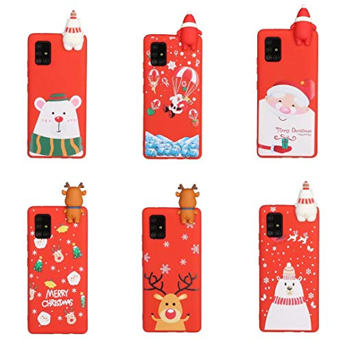 [6 Pack] Christmas Case for iPhone 7 Plus, iPhone 8 Plus, 3D Cartoon Silicone Soft Silicone TPU Shockproof Protective Cases Slim Fit Ultra Thin Bumper Funny Girly Xmas Cover for iPhone 7 Plus/8 Plus
