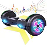 """FLYING-ANT Hoverboard with Seat Attachment, 6.5"""" Self Balancing Scooter with Hoverkart, Hoverboards with Bluetooth and LED Lights, Best Gift for Kids and Teenagers ,Shipping from USA"""