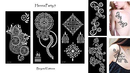 Tattoo sjabloon 5 stuks set henna party 5 voor eenmalig gebruik voor lichaam en meer