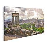 Bild Bilder auf Leinwand Landschaftsbild Edinburgh Skyline