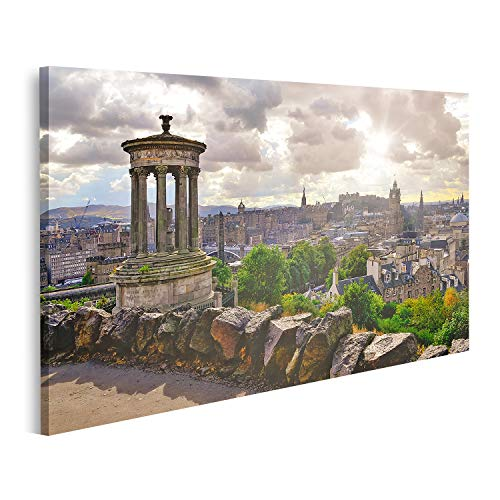 Cuadro en lienzo Vista panorámica del horizonte de Edimburgo Escocia Reino Unido Vista panorámica del horizonte de Edimburgo Escocia cuadros decoracion Impresión salon