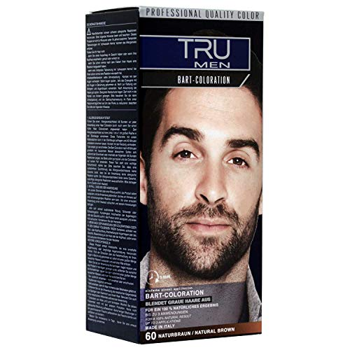 Tru Professional Men Bart-Coloration Färbemittel, 30ml (60 - Naturbraun)