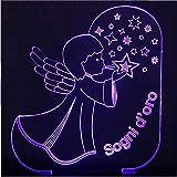 Illusion 3D 7 Farben ändern Visual Angels Blowing Stars Form LED Nachtlicht Kid Touch Button Romantische USB-Lampe Schreibtischlampe Home Decor