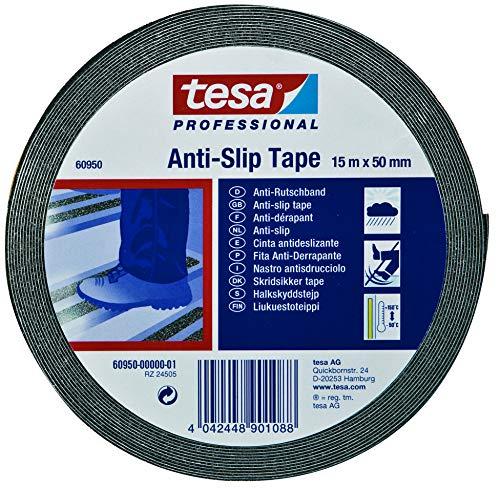 TESA 60950-00001-00 60950-00001-00-Cinta Antideslizante-15m x 50mm Negra, Not_applicable