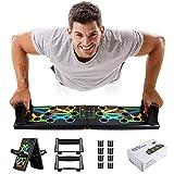 Awroutdoor Push Up Rack Board, 14 in 1 Pieghevole Multifunzionali Body Buiding Push Up Board Attrezzi per Allenamento a Casa Allenamento Fitness