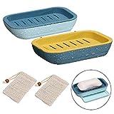 Wuudi Seifendose, Seifenschalen Box mit Seifensäckchen für Badezimmer Reise,4 Stück