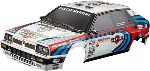 Nihlsen Killerbody Lancia Delta HF Integrale 16V RC Car Body Frame Frame Kit para 1 10 Coche eléctrico RC Racing Car Shell Piezas de Bricolaje - azul-blanco