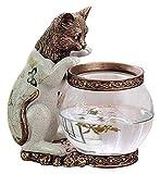 Escultura de escritorio Estatua del gato Tanque de peces Escultura Regalos infantiles Inicio Accesorios para el hogar Tanque de peces de oro Estudio de la decoración animal Figuras