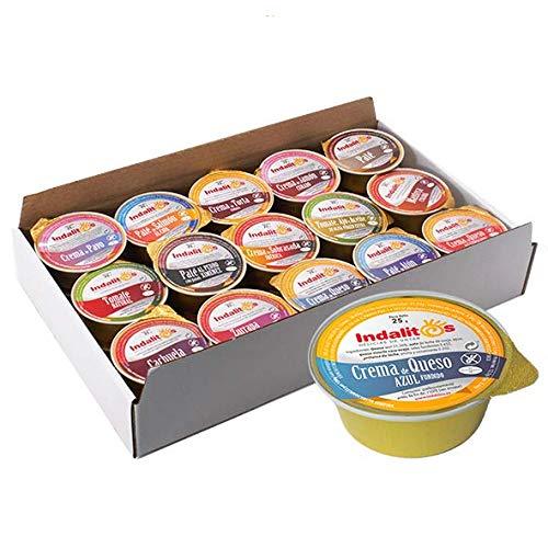 Indalitos - Crema de Queso Azul - Bandeja 30 Monodosis 25 g