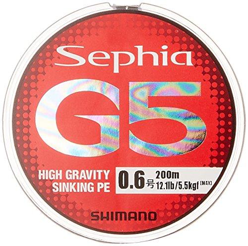 シマノ(SHIMANO) PEライン セフィア G5 200m 0.5号 マルチカラー PL-E65N