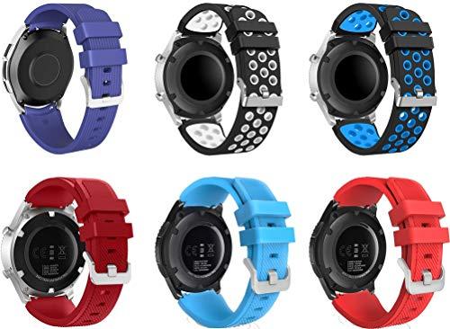 Gransho Correa de Reloj Reemplazo 22mm, la Correa de Reloj Watch Band Accessorios (22mm, 6PCS B)
