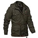 Mens Winter Coats Field Jackets Parka Jacket Men Tactical Jacket Work Jacket Cargo Jacket Hiking Jacket Combat Jacket Multi Pockets Army Green