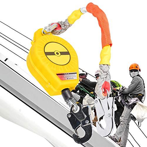 ZHDLJ Dispositivo Anticaída Retractil, Kits Anticaídas con Gancho de Acero y Cable de Acero, 3M/5M/10M Opcional, Equipos Anticaídas para Trabaje en Altura