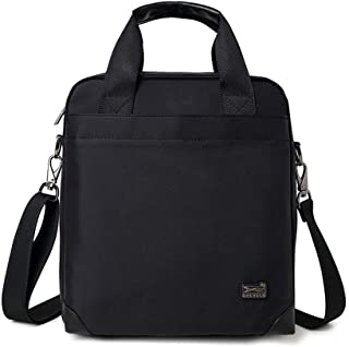 DIEBELLAU Men's Shoulder Bag Canvas Business Men's Crossbody Bags Laptop Handbags (Color : Black)